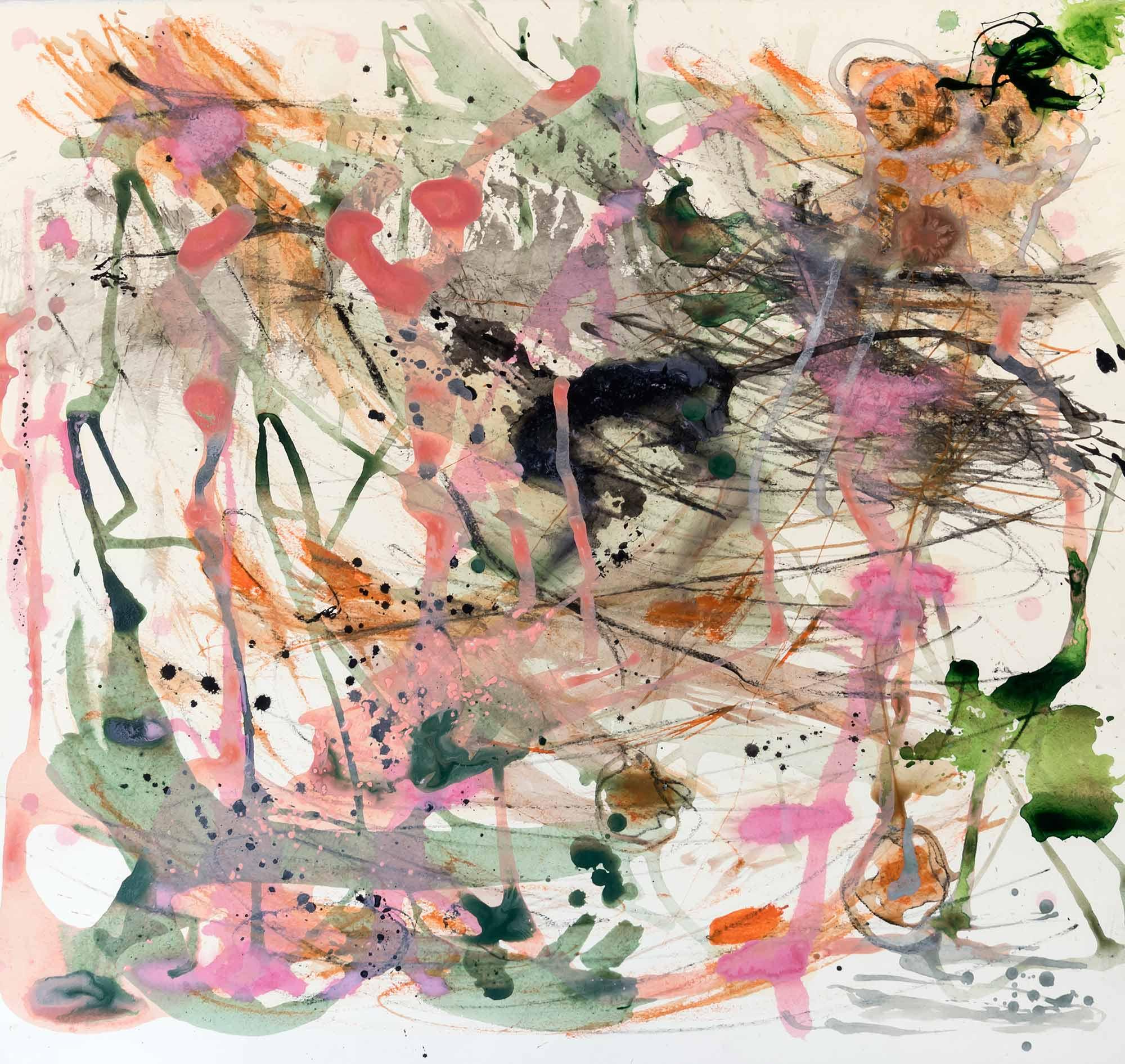 <b>Agitación</b><br> Técnica mixta sobre papel Guarro<br> 55 x 77 cm