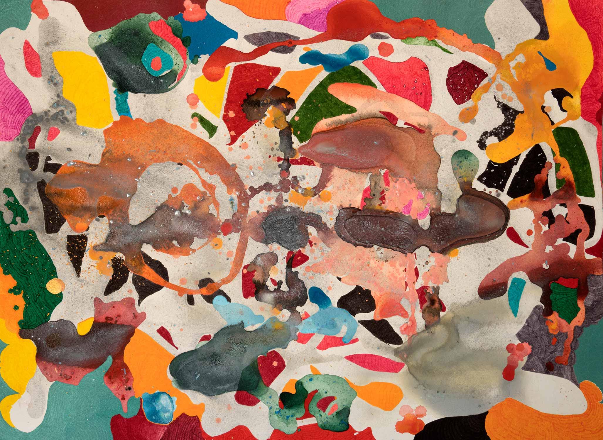 <b>Arizona</b><br> Acrílico y rotulador sobre papel<br> 76 x 19 cm (2015)