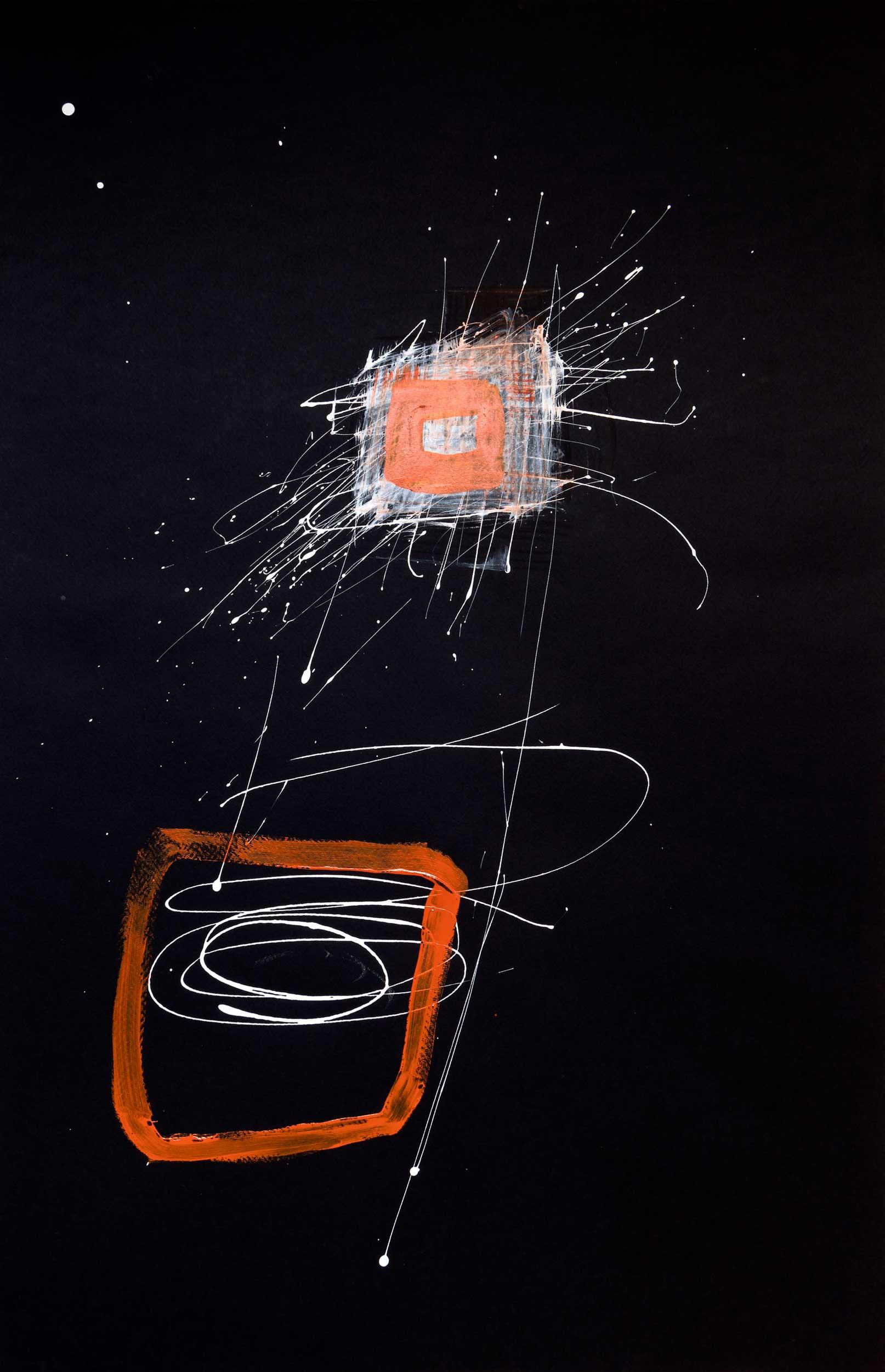 <b>Darkness I</b><br> Acrílico sobre cartulina<br> 65 x 100 cm