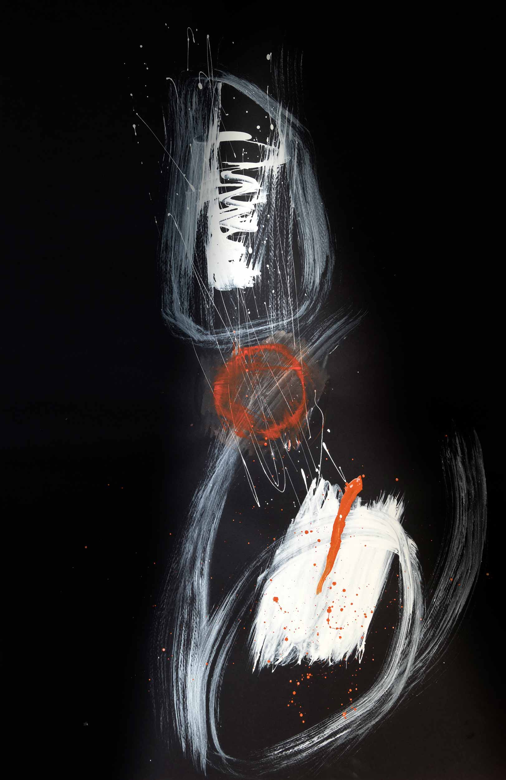 <b>Darkness III</b><br> Acrílico sobre cartulina<br> 65 x 100 cm