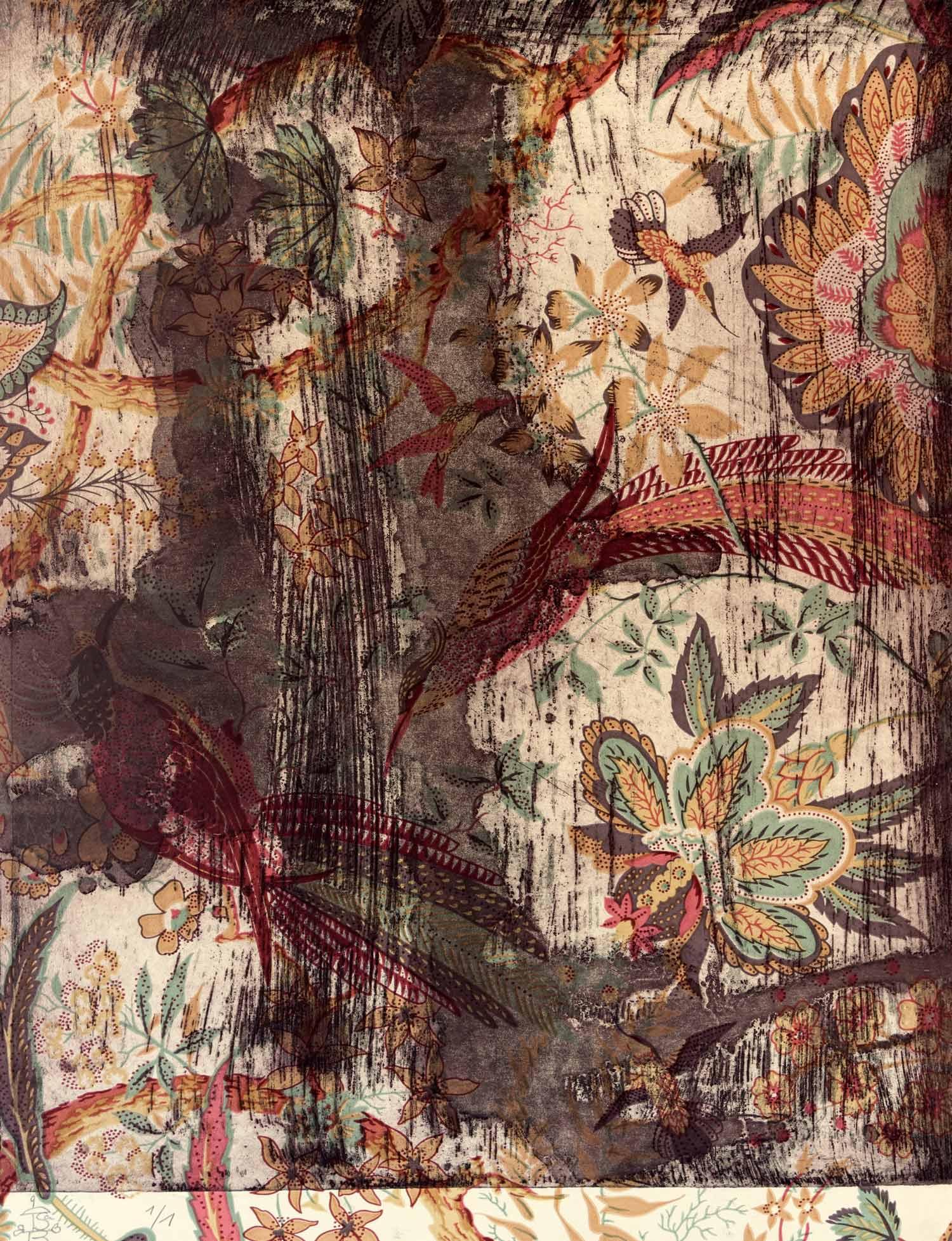 DECÓ. Aguafuerte sobre papel decorativo, 52 x 40 cm