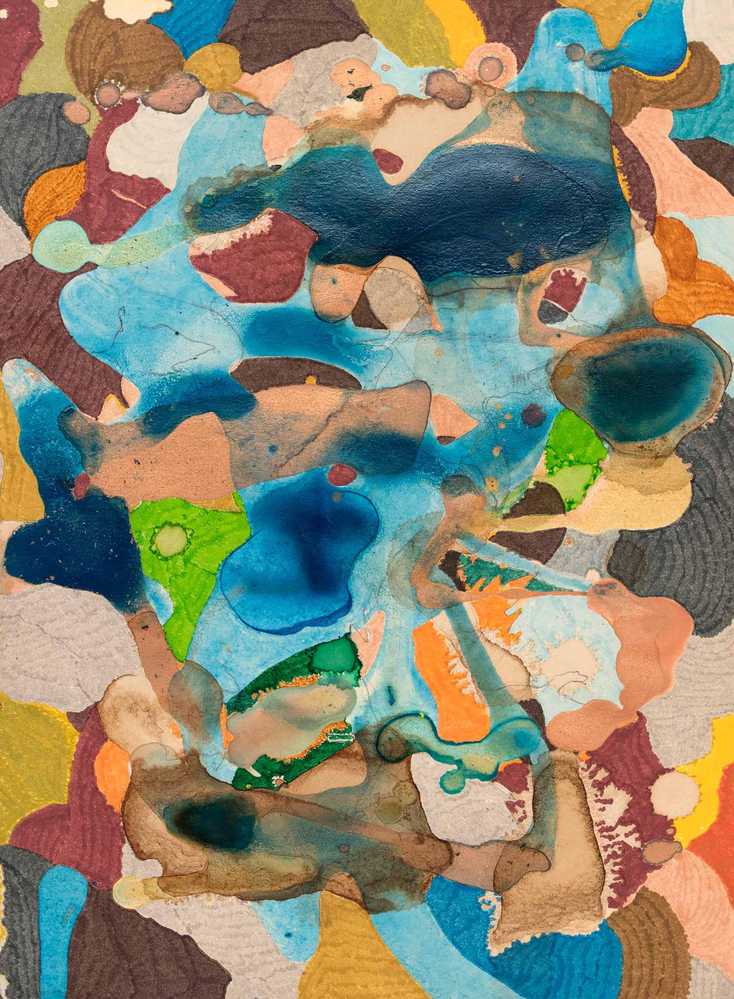 <b>Delicatessen I</b><br> Técnica mixta sobre papel Canson Añejo<br> 34 x 24,5 cm