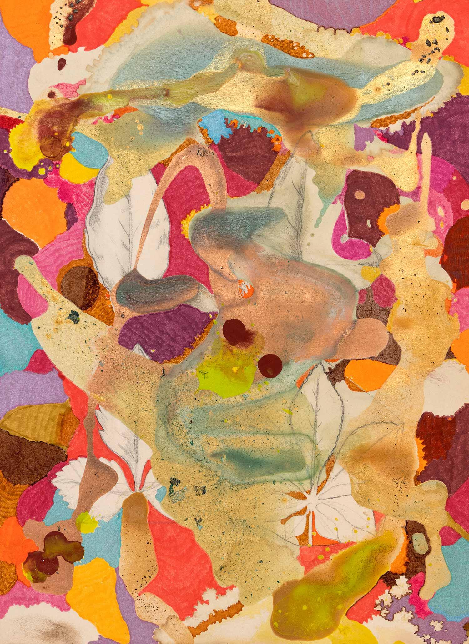 <b>Delicatessen V</b><br> Técnica mixta sobre papel Canson Añejo<br> 34 x 24,5 cm