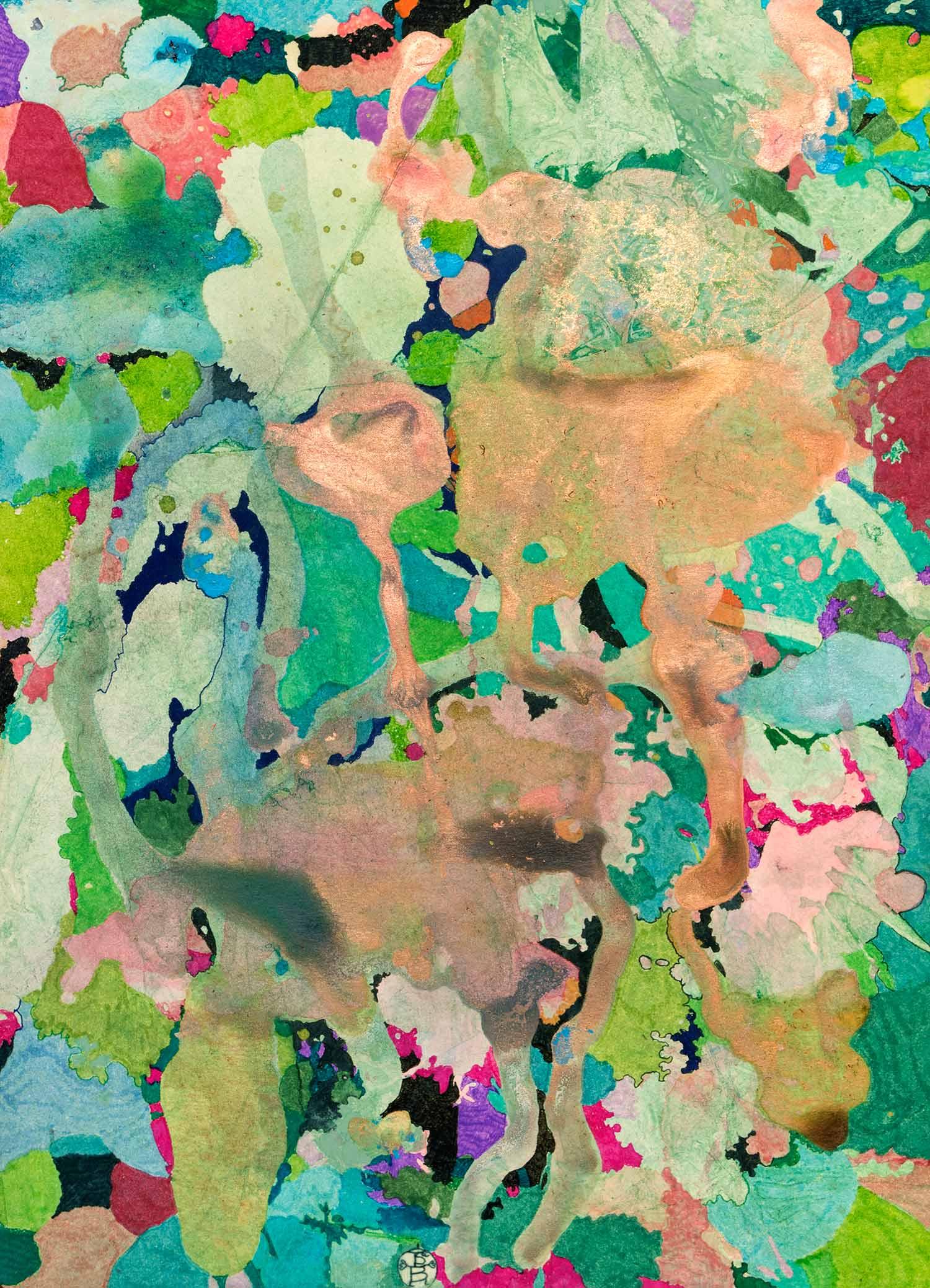 <b>Delicatessen VIII</b><br> Técnica mixta sobre papel Canson Añejo<br> 34 x 24,5 cm