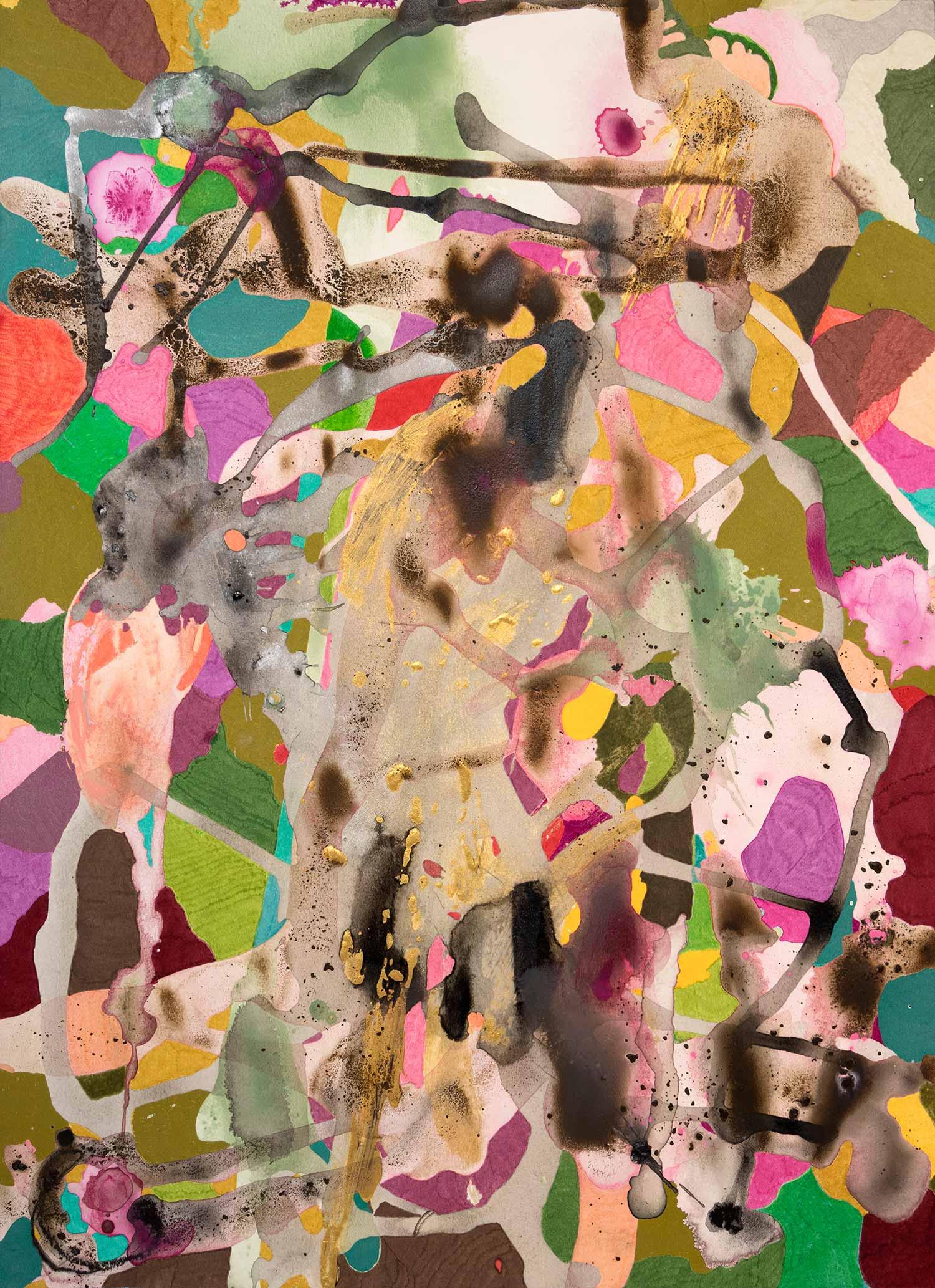 <b>Elegance</b><br> Acrílico y rotulador sobre papel<br> 76 x 19 cm (2015)