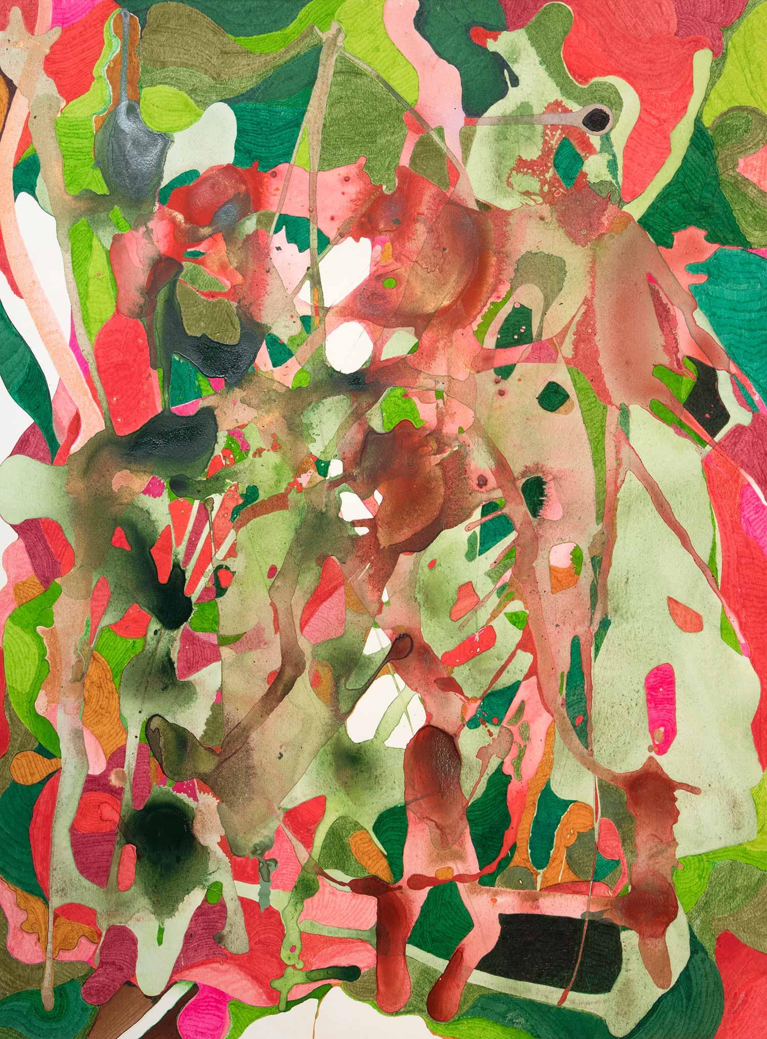 <b>Smashing Pumpkings</b><br> Acrílico y rotulador sobre papel<br> 76 x 19 cm (2015)